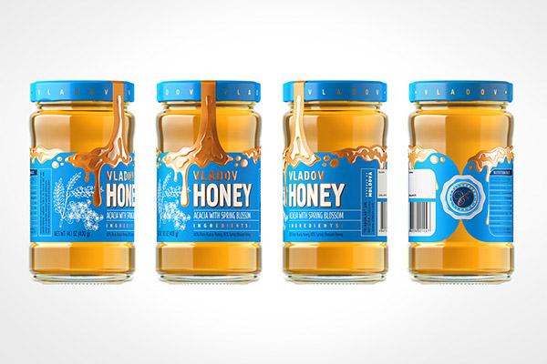 国外漂亮的VLADOV蜂蜜创意包装设计作品欣赏
