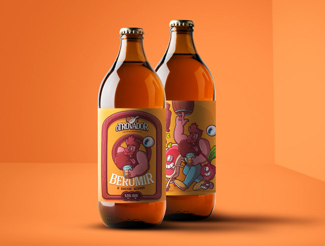 国外OTrovador手工啤酒瓶贴设计作品欣赏