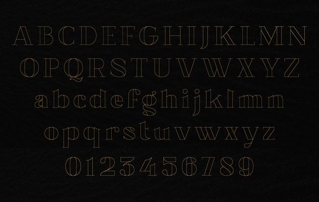 国外漂亮的Chronos Serif线条字体设计作品