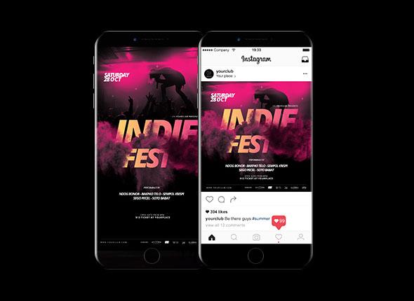 国外Indie Fest Music音乐节主视觉设计作品欣赏