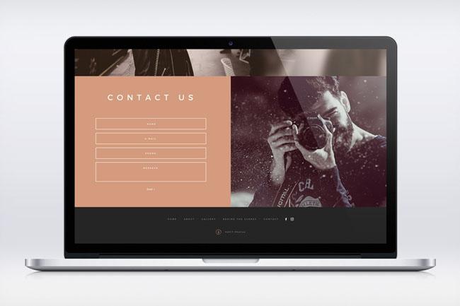 国外设计师Michael Rice摄影工作室官网设计