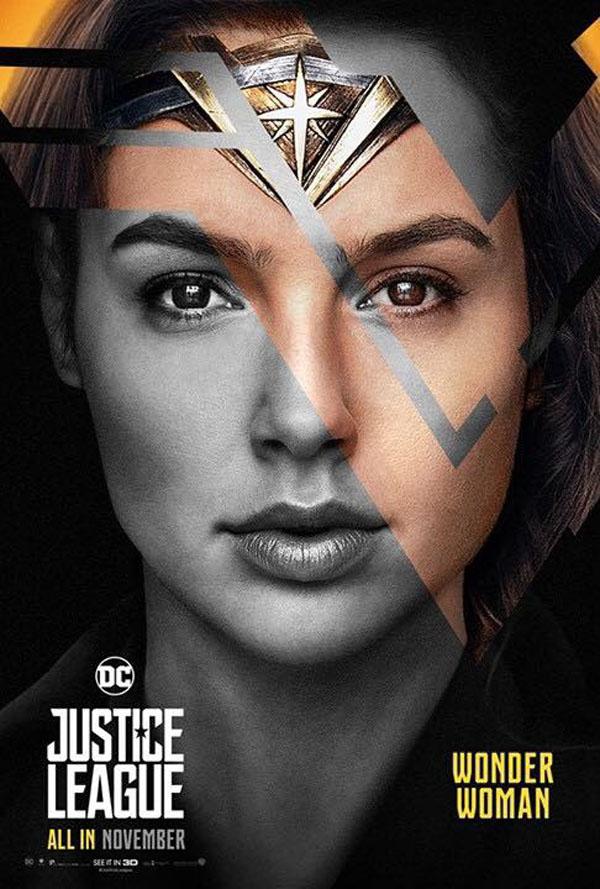 DC超级英雄电影《正义联盟》角色海报设计