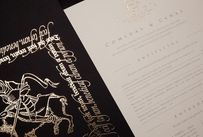 BAROLO 71意大利餐厅品牌形象vi设计欣赏
