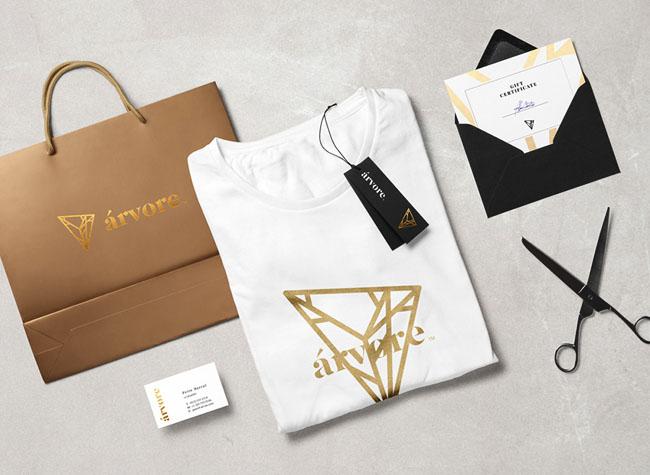 国外arvore时装零售品牌形象vi设计欣赏
