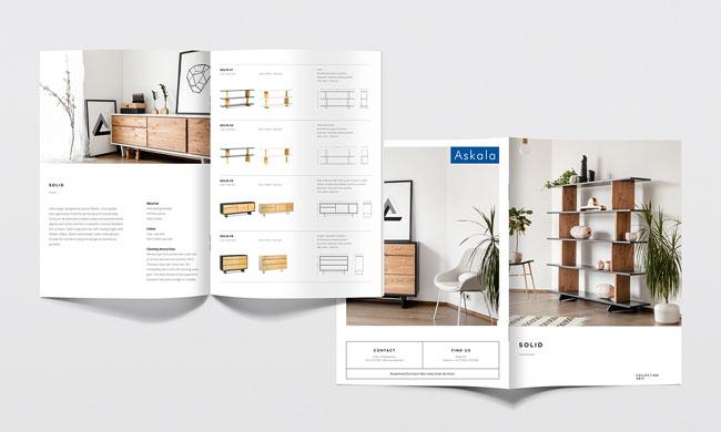 Askala家具品牌目录画册设计模板