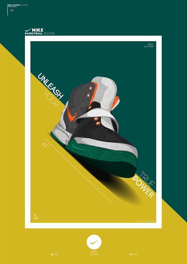 印尼设计师Januar耐克运动鞋海报设计作品