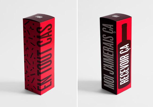 国外SAQ酒四件套礼盒包装设计欣赏