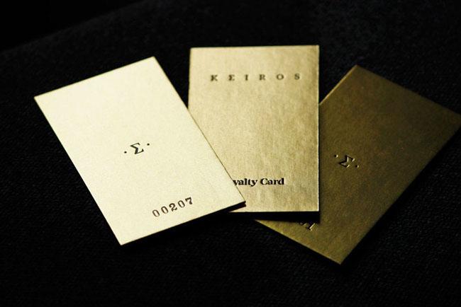 国外KEIROS美容院名片与礼品卡设计