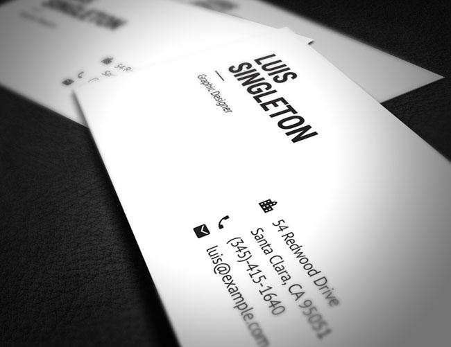 设计师Horea Nicodin简约大方的黑白名片模版设计