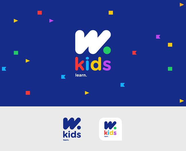 国外W.kids语言学校品牌形象设计