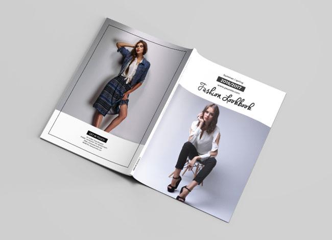 国外Mousumi Mou时尚画册模版设计作品