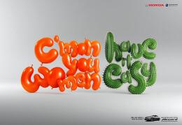 国外Honda Accord平面广告创意字体设计欣赏