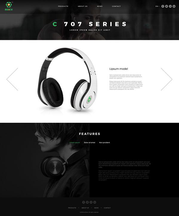 国外BOICE新版耳机网页设计作品