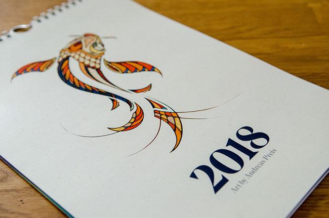 德国设计师Andreas Preis 2018插图挂历设计