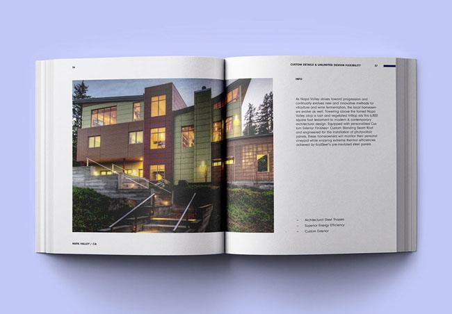 EcoSteel建筑公司画册设计欣赏