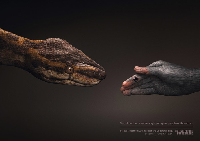 瑞士自闭症论坛宣传创意广告作品