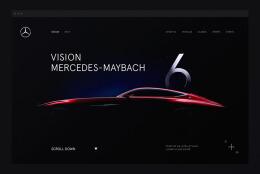 奔驰Maybach 6网页界面设计
