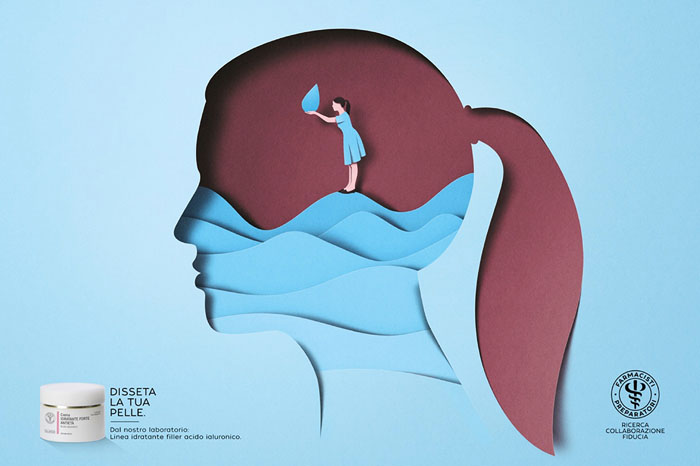 意大利Farmacisti美容保健品系列创意广告设计作品欣赏