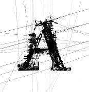 铁搭式建筑风格的26个英文字母设计欣赏