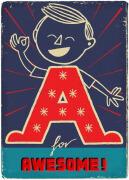 童趣可爱卡通风格的26个英文字母设计ABC欣赏