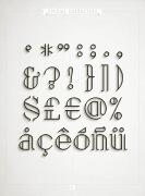 一组线条优美的26个英文字体设计欣赏