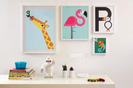 挂墙上的可爱的动物字母设计12P