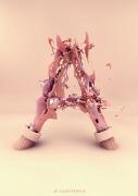 设计师AlexisPersani创意3D 26个英文字母设计