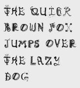 国外Democratype创意手绘字体设计欣赏