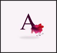 漂亮的花卉英文字母设计17P