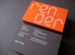 高档橙色系商务名片设计案例欣赏