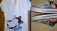 威客服务:[13052] 手绘服务,为您手绘布鞋,t恤